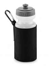 WATER BOTTLE & HOLDER BLACK (500ML WATER BOTTLE INCLUDED)