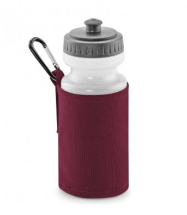 WATER BOTTLE & HOLDER BURGUNDY (500ML WATER BOTTLE INCLUDED)