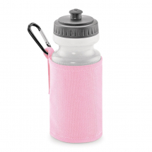 WATER BOTTLE & HOLDER PINK (500ML WATER BOTTLE INCLUDED)