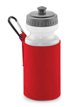 WATER BOTTLE & HOLDER RED (500ML WATER BOTTLE INCLUDED)