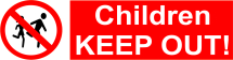 CHILDREN KEEP OUT 600X200 - COREX