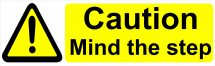 CAUTION MIND THE STEP 600X200 - COREX