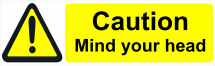 CAUTION MIND YOUR HEAD 600X200 - COREX