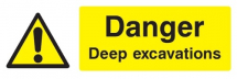 DANGER DEEP EXCAVATIONS 600X200 - COREX