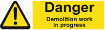 DANGER DEMOLITION WORK IN PROGRESS 600X200 - COREX