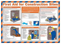 POSTER FIRST AID (A615) FOR CONSTRUCTION SITES