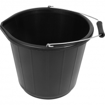BUCKET PLASTIC 3 GAL BLACK