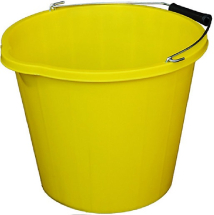 BUCKET HD PLASTIC 3 GAL YELLOW